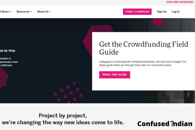 Crowdfunding Platforms in India indiegogo