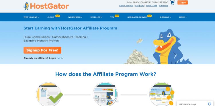Hostgator affiliate networks