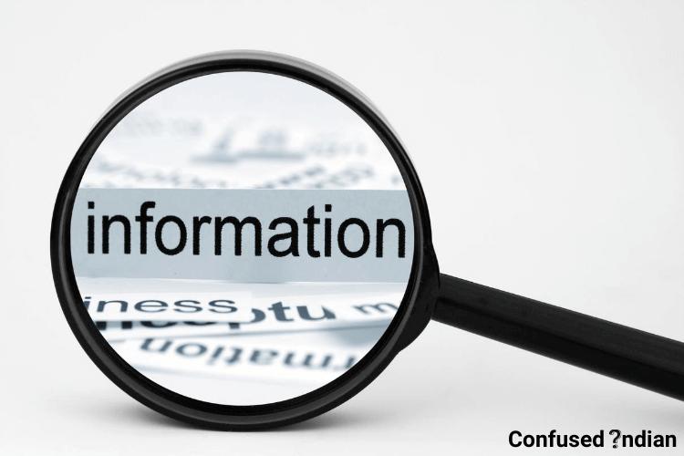 Absence of proper information
