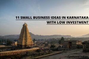 small business ideas in Karnataka