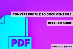 CONVERT PDF FILE TO DOCUMENT FILE