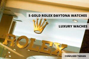 Gold Rolex Daytona Watches